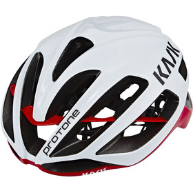 Kask Protone Fietshelm, white/red